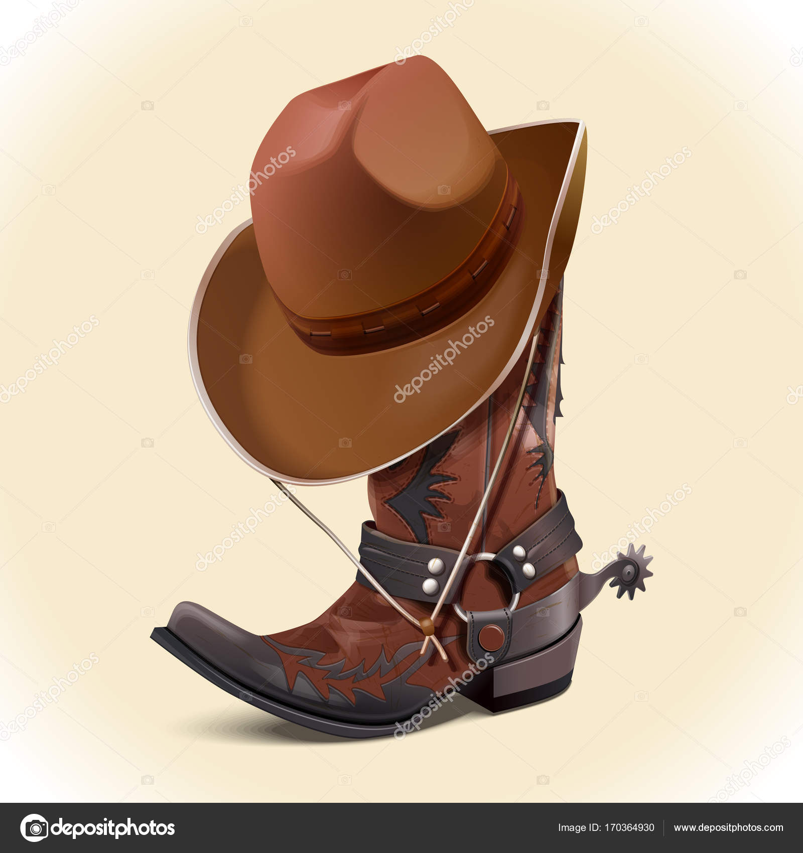 Accessories cowboy (hat and boots). 8