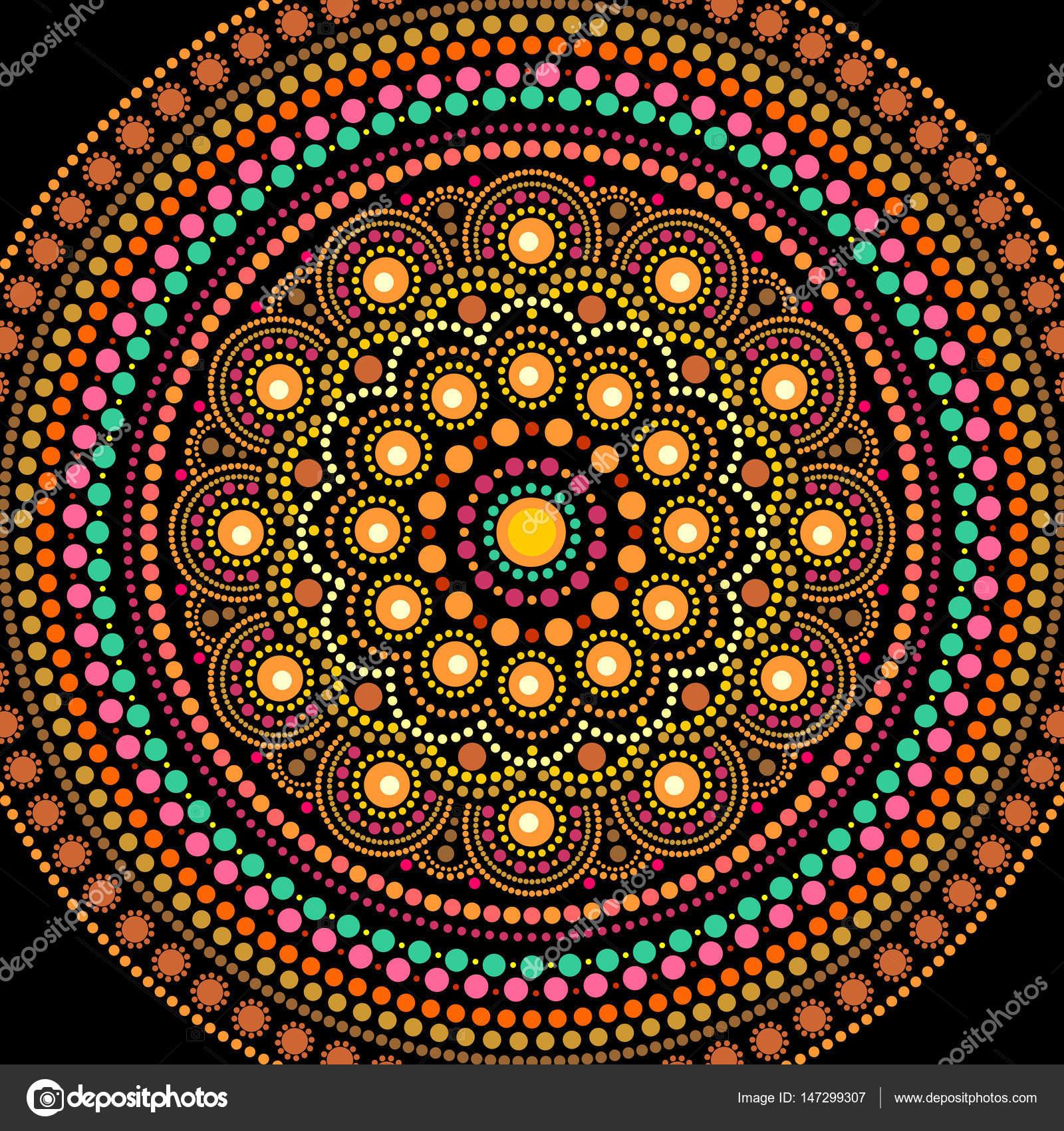 Pinturas De Mandalas Mandala De Pintura Punto De Estilo Aborigen - Pinturas-de-mandalas