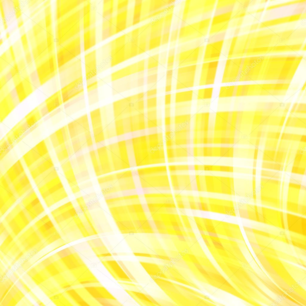 Abstract Yellow Background With Smooth Lines Color Waves