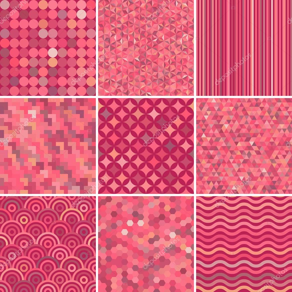 Set Of Abstract Colorful Background 9 Geometric Pattern