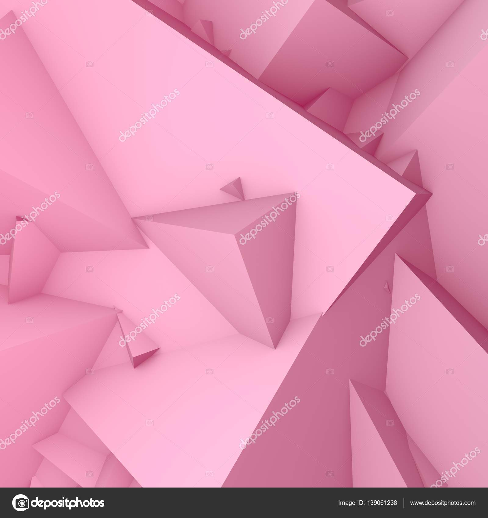 abstract background consisting of geometric shapes 3d pastel pink