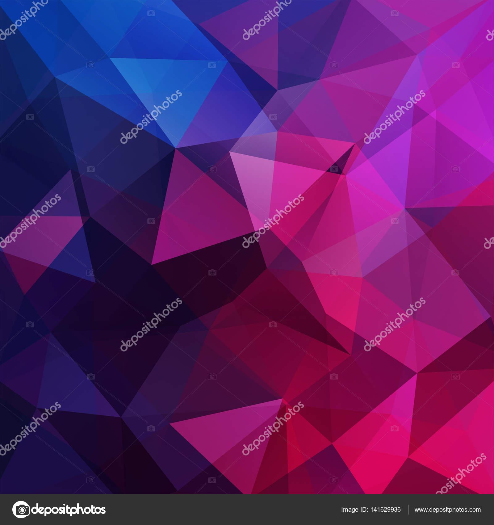 Resumen antecedentes consisten en triángulos de color rosa, morados ...