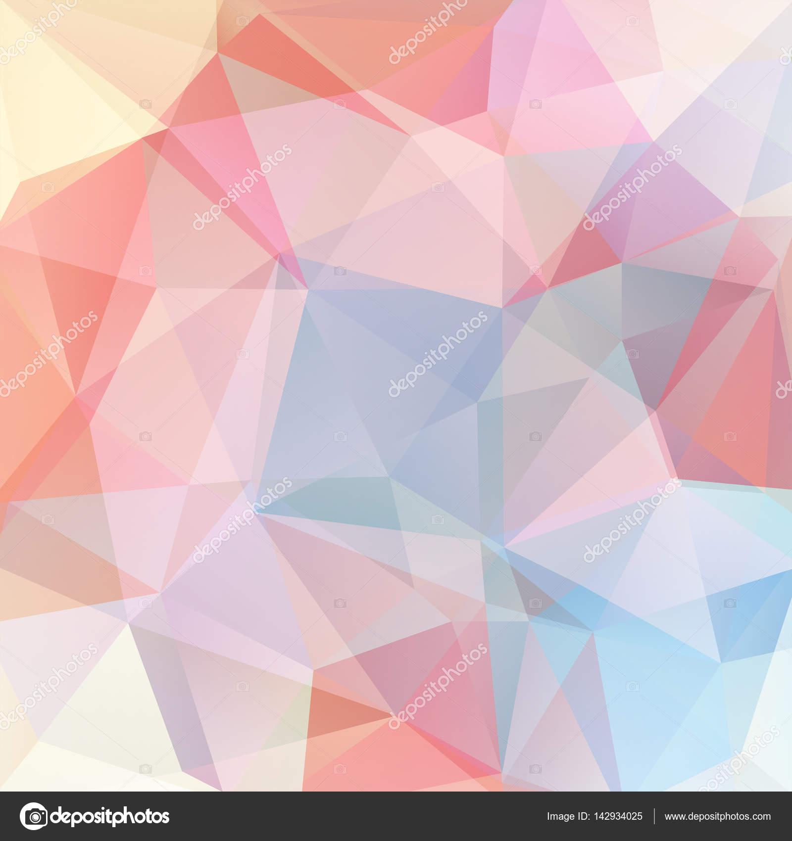 Vettore Sfondi Colore Rosa Pastello Stile Geometrico Astratto