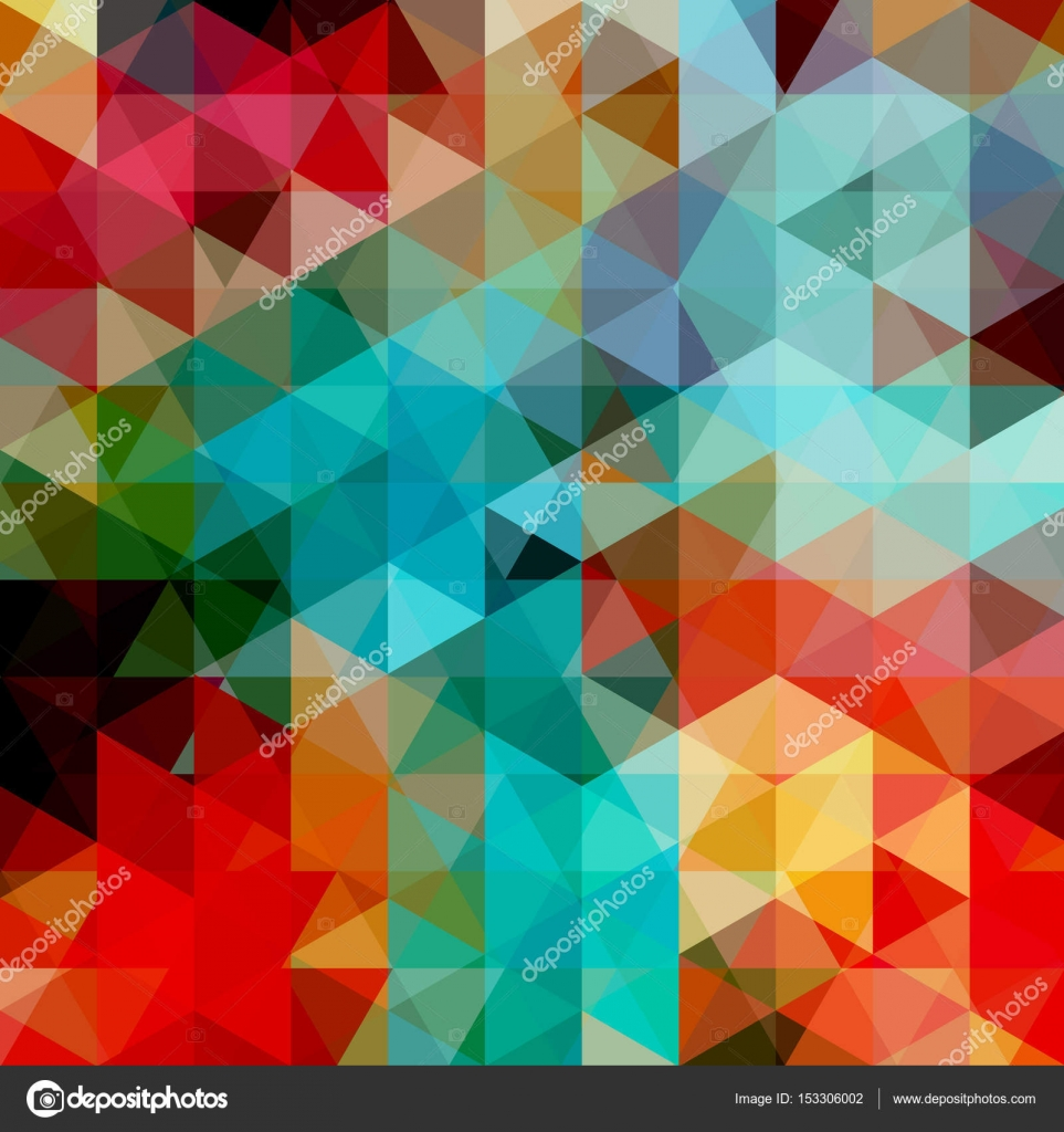 abstract background consisting of red blue green triangles geometric design for business presentations or web template banner flyer