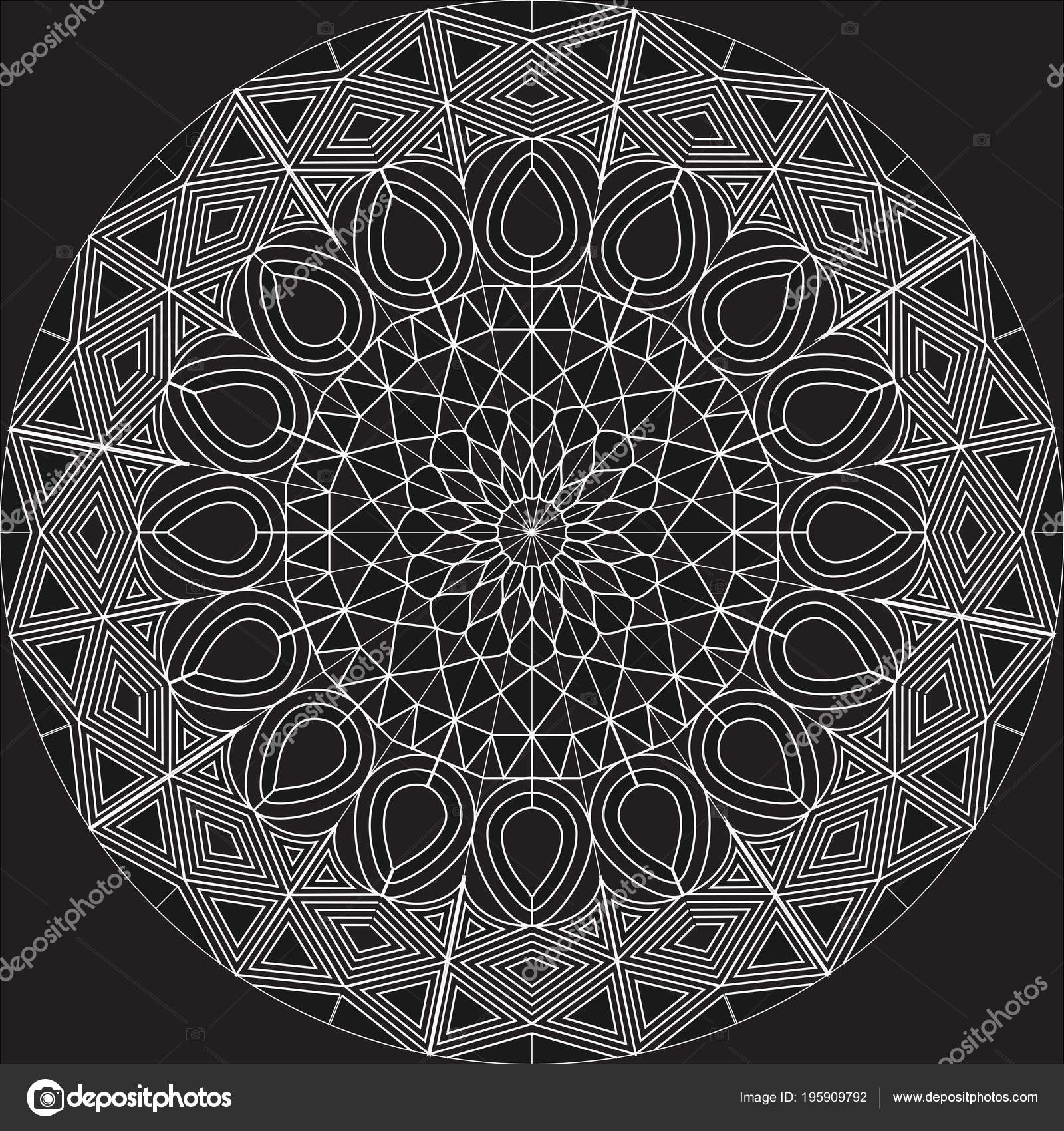 Conception mandala complexe blanc sur fond blanc aide formes base image vectorielle weerawan - Mandala complexe ...