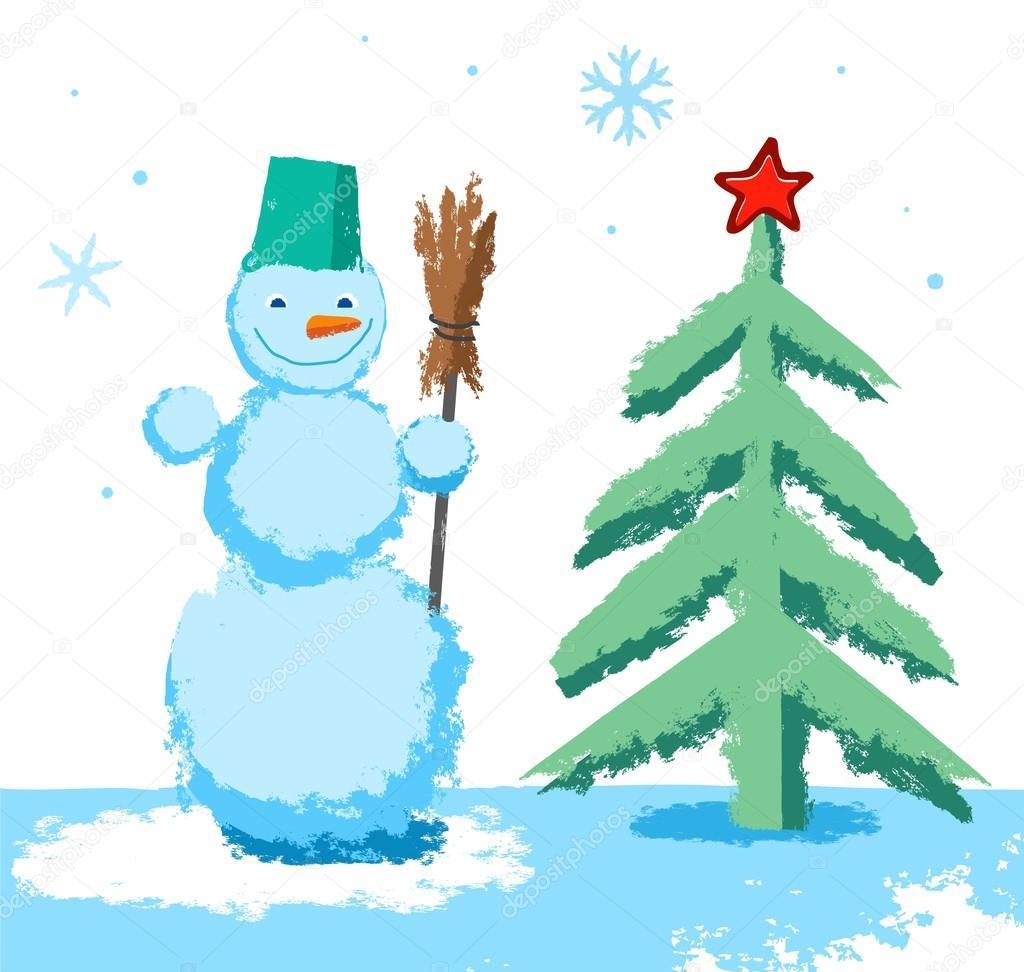 Dibujos Estrella De Navidad Dibujo Un Color Muneco De Nieve Y