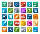 Photo Medicine, icons, colored, flat, vector.