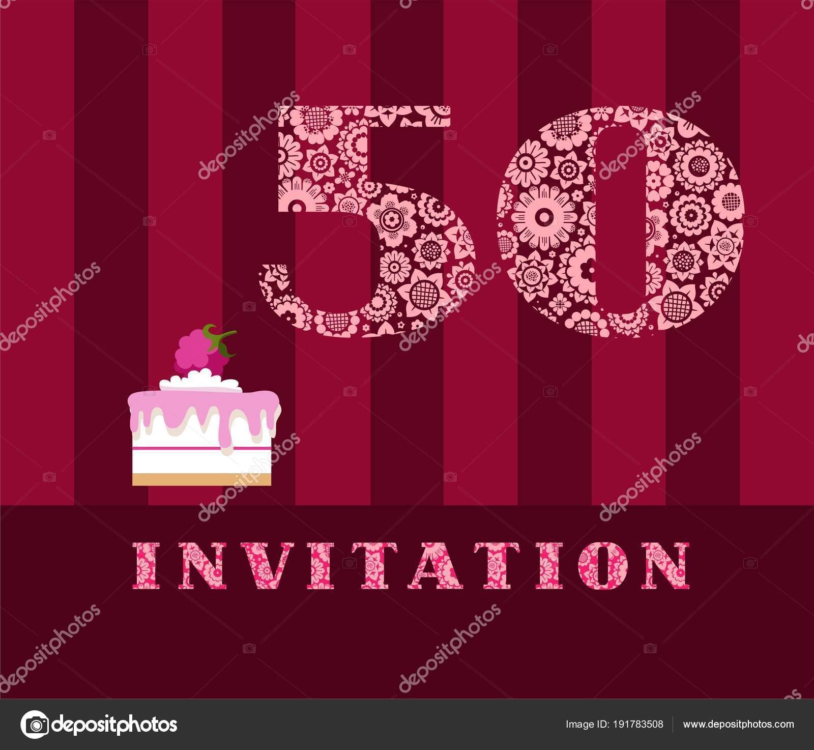Imágenes Invitaciones Para 50 Años Invitación Años Edad
