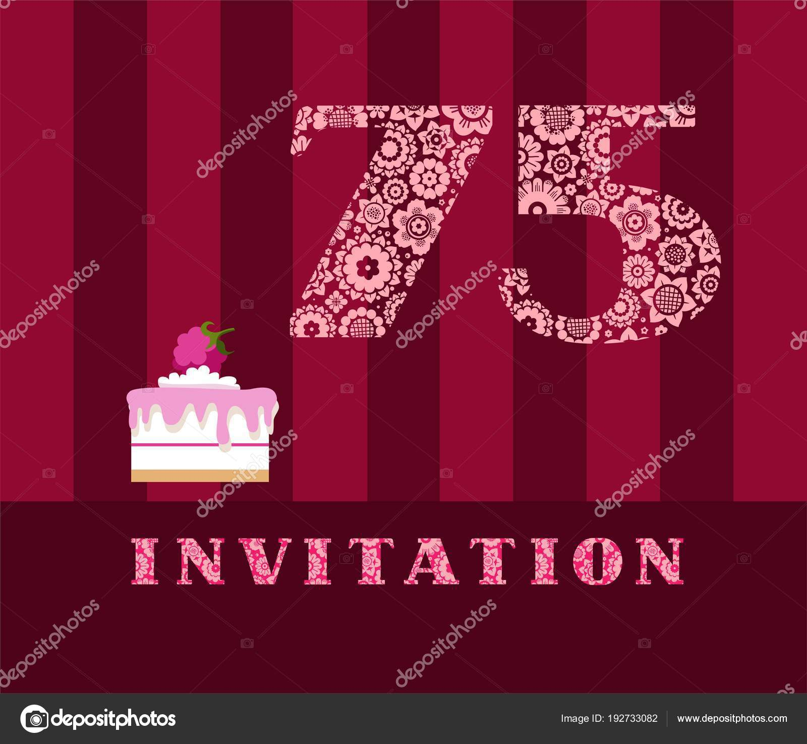 Invitation years old raspberry pie vector english invitation invitation years old raspberry pie vector english invitation birthday party stock vector stopboris Images