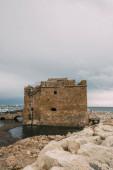 ősi vár paphos közelében Földközi-tenger