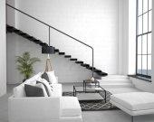 Interiér bytu v loftovém stylu ve světlých barvách