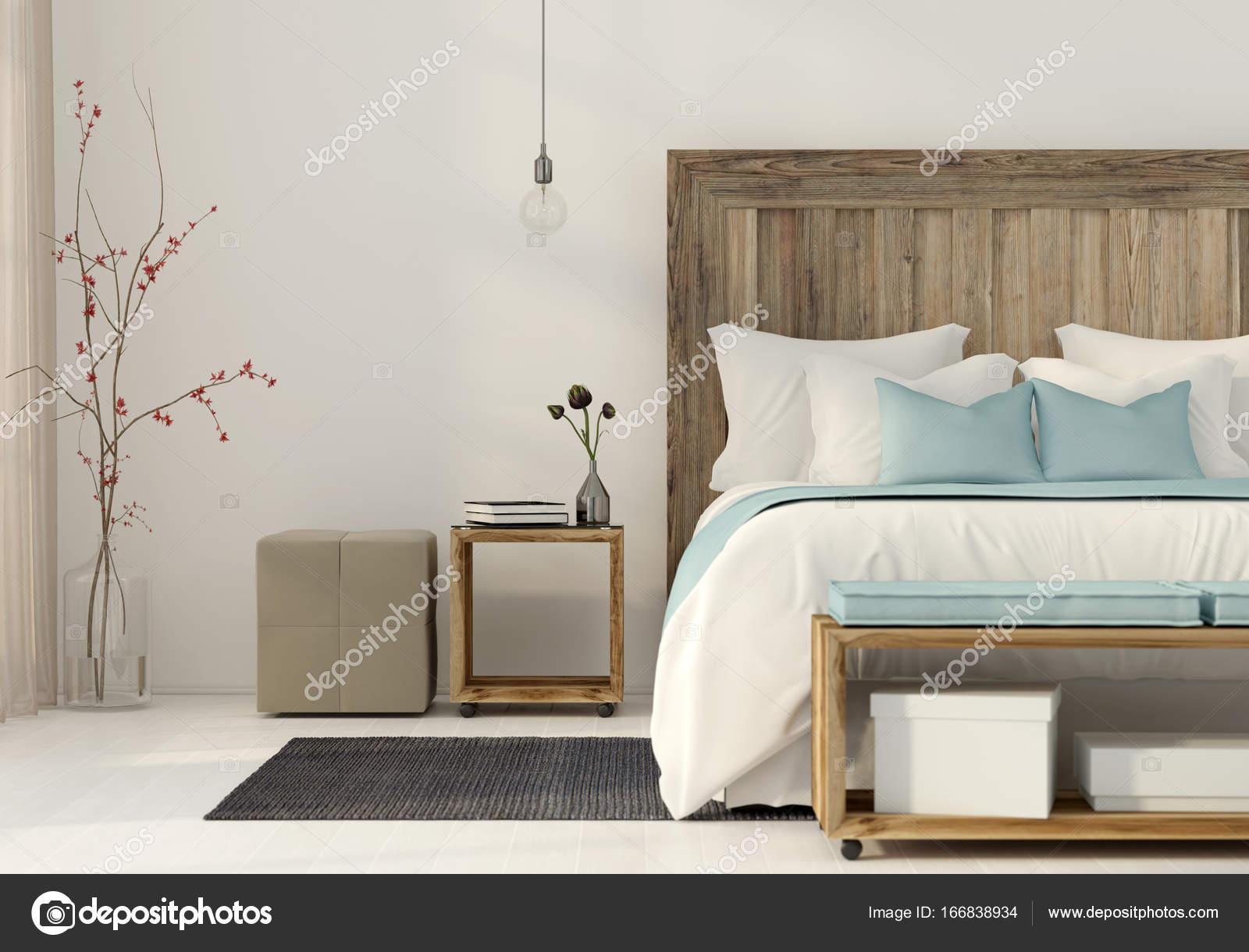Camera Da Letto Stile Minimalista : Camera da letto in stile minimalista u foto stock jzhuk
