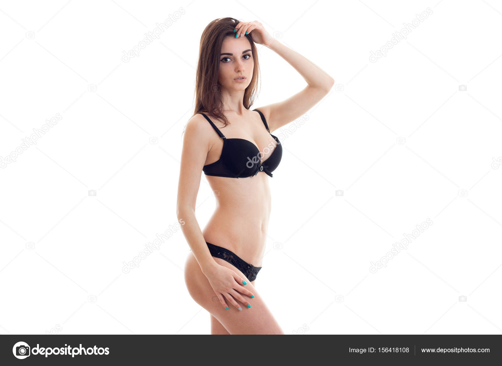 σέξι κοκαλιάρικο μαύρο έφηβος
