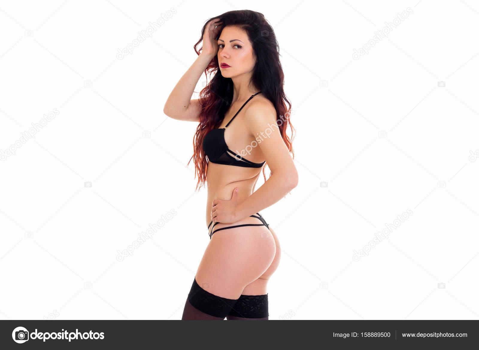 sesso in lingerie nera