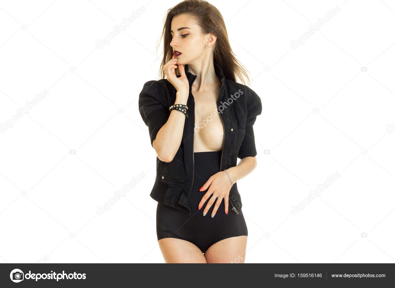 Grote zwarte naakt meisje
