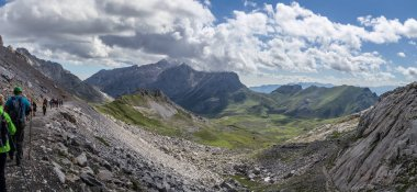 Awesome valley and mountains panorama