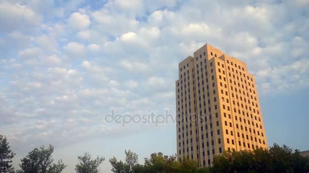 Wide Panoramic North Dakota Capital Building Bismarck Clouds Pass