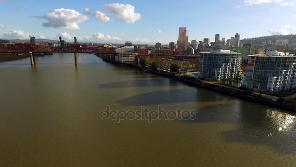 Broadway Draw most Willamette River Portland Oregon centra městské panorama