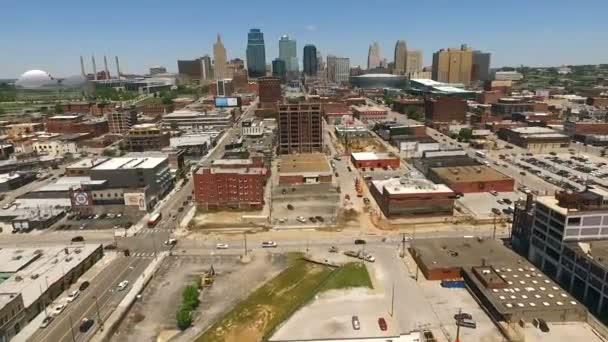 Sopra Skyline di Downtown City Kansas City nel Missouri