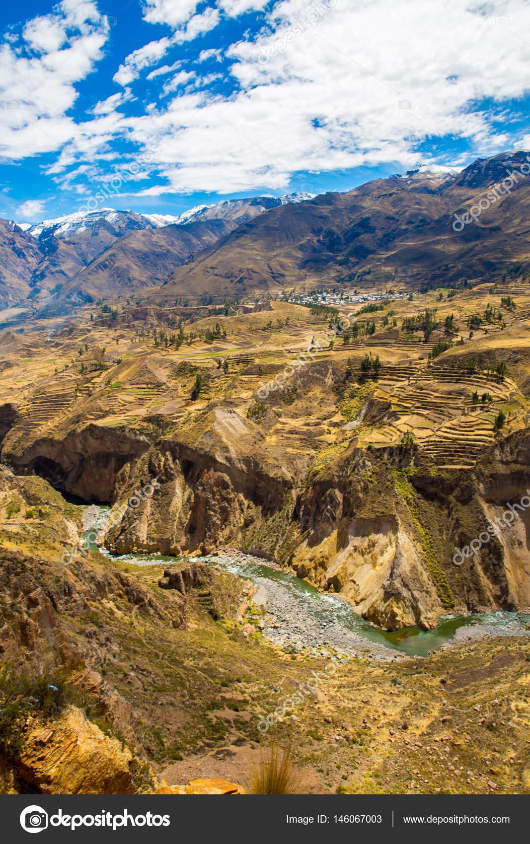 Colca Canyon Perú América Del Sur Incas Para Construir