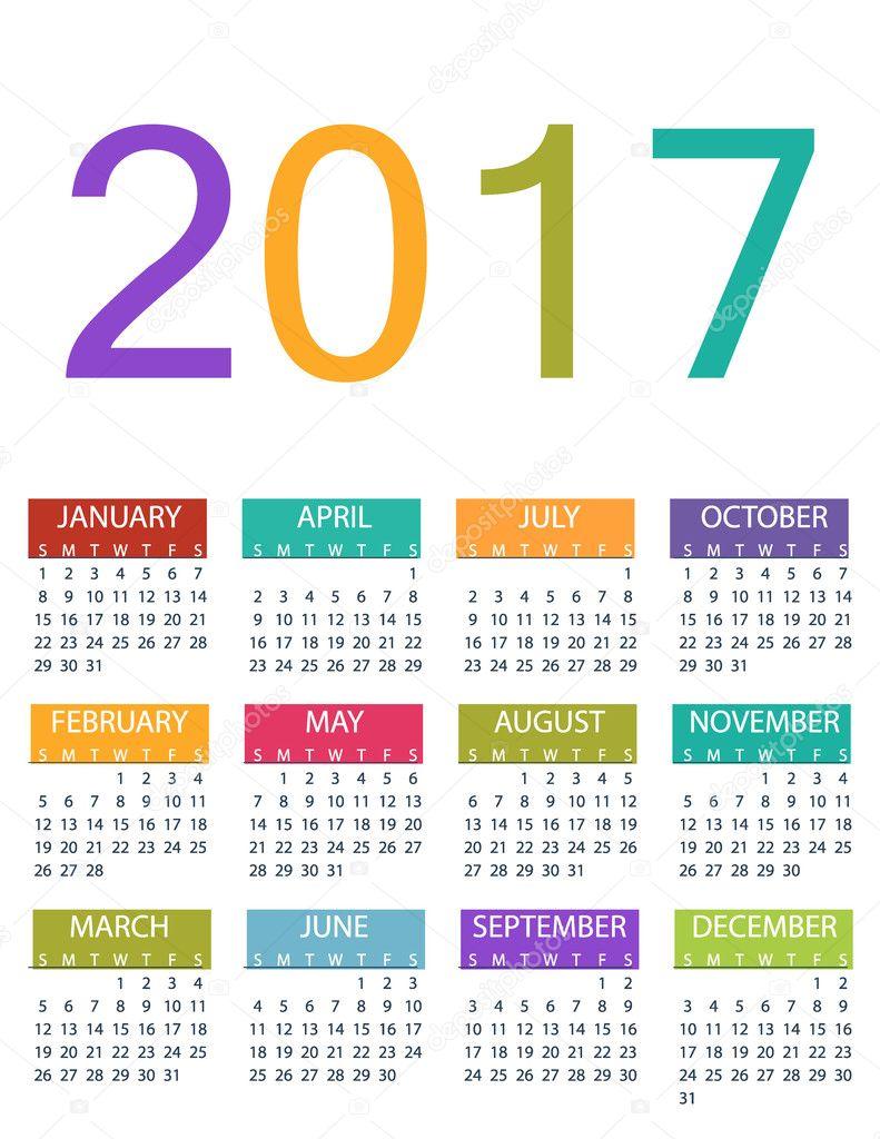Kalender Planer Design — Stockvektor © DanyliukI #126891274