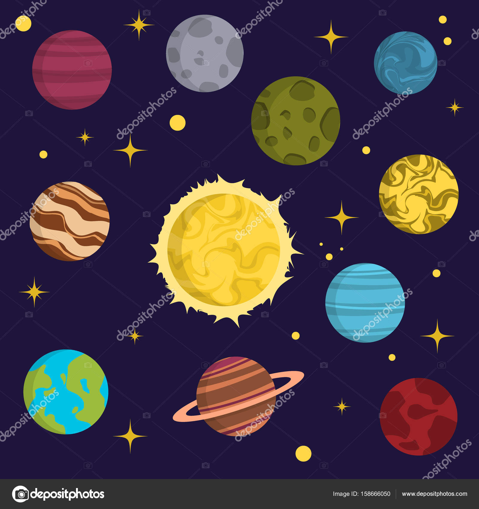 Solar system space planets galaxy earth universe planet for Outer space planning and design