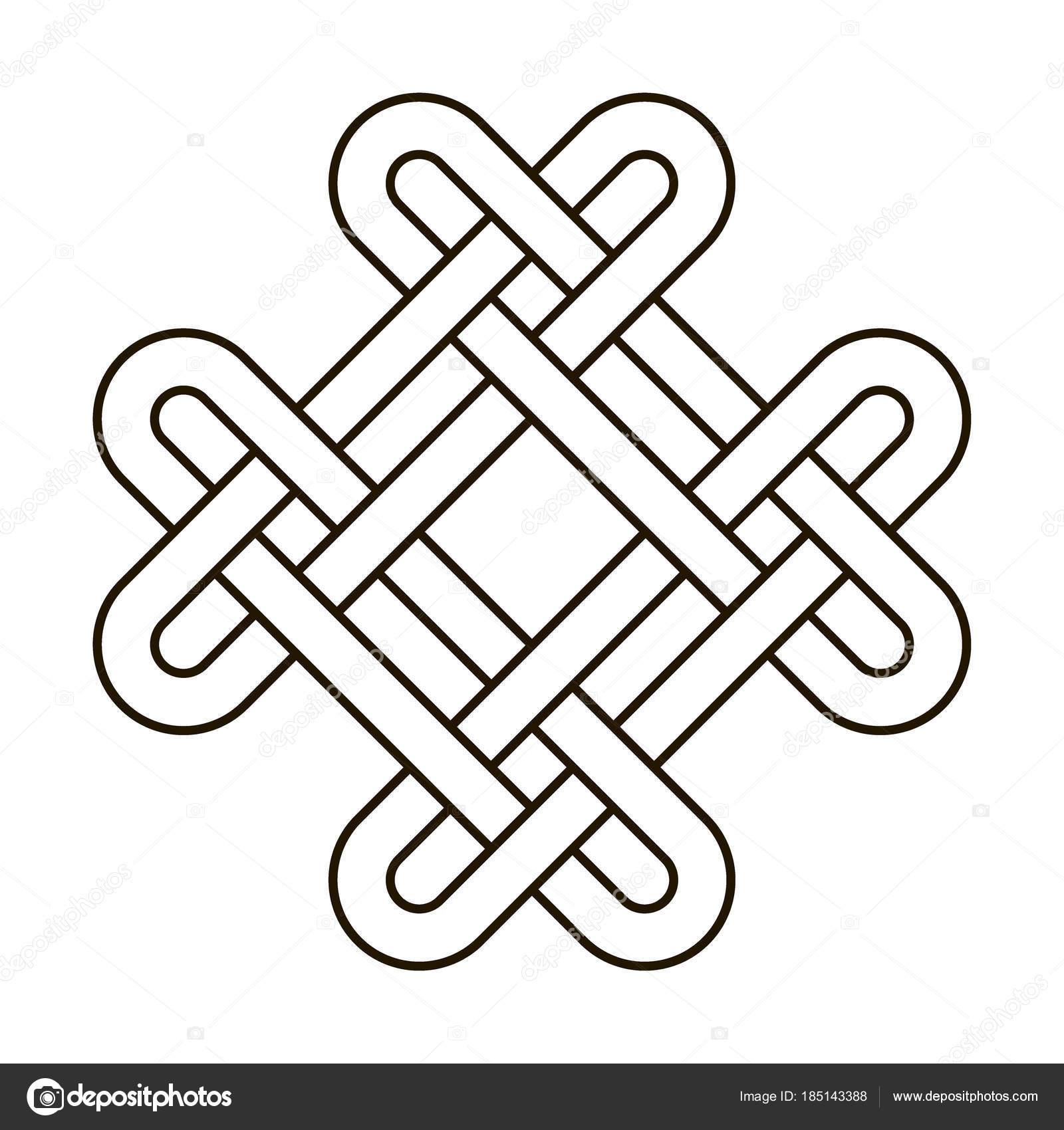Węzeł Celtycki Geometryczne Starożytnych Krzyż Wektor Wiązane
