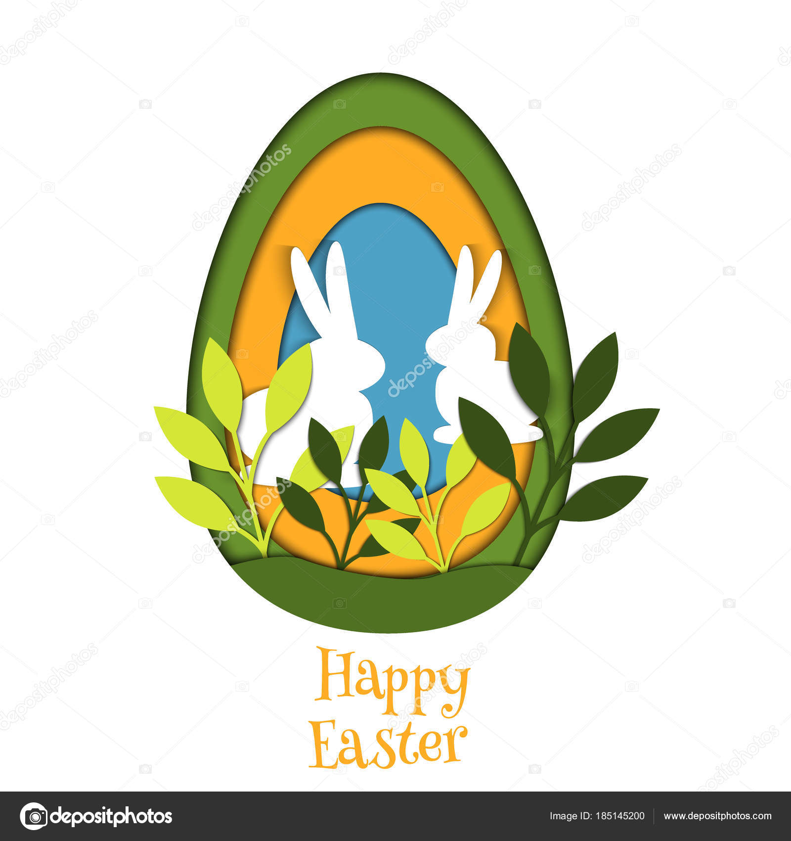 easter egg card vector banner background cut out spring template