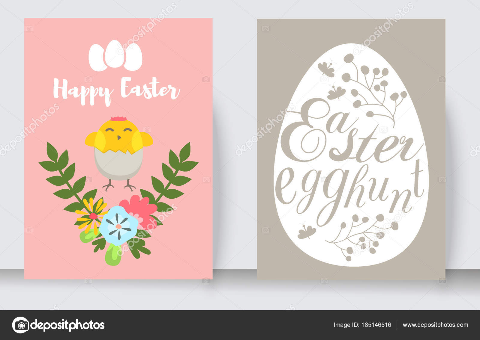 Easter cards vector cartoon characters and invitation banner design easter cards vector cartoon characters and invitation banner design holiday decoration spring celebration traditional greeting symbols m4hsunfo