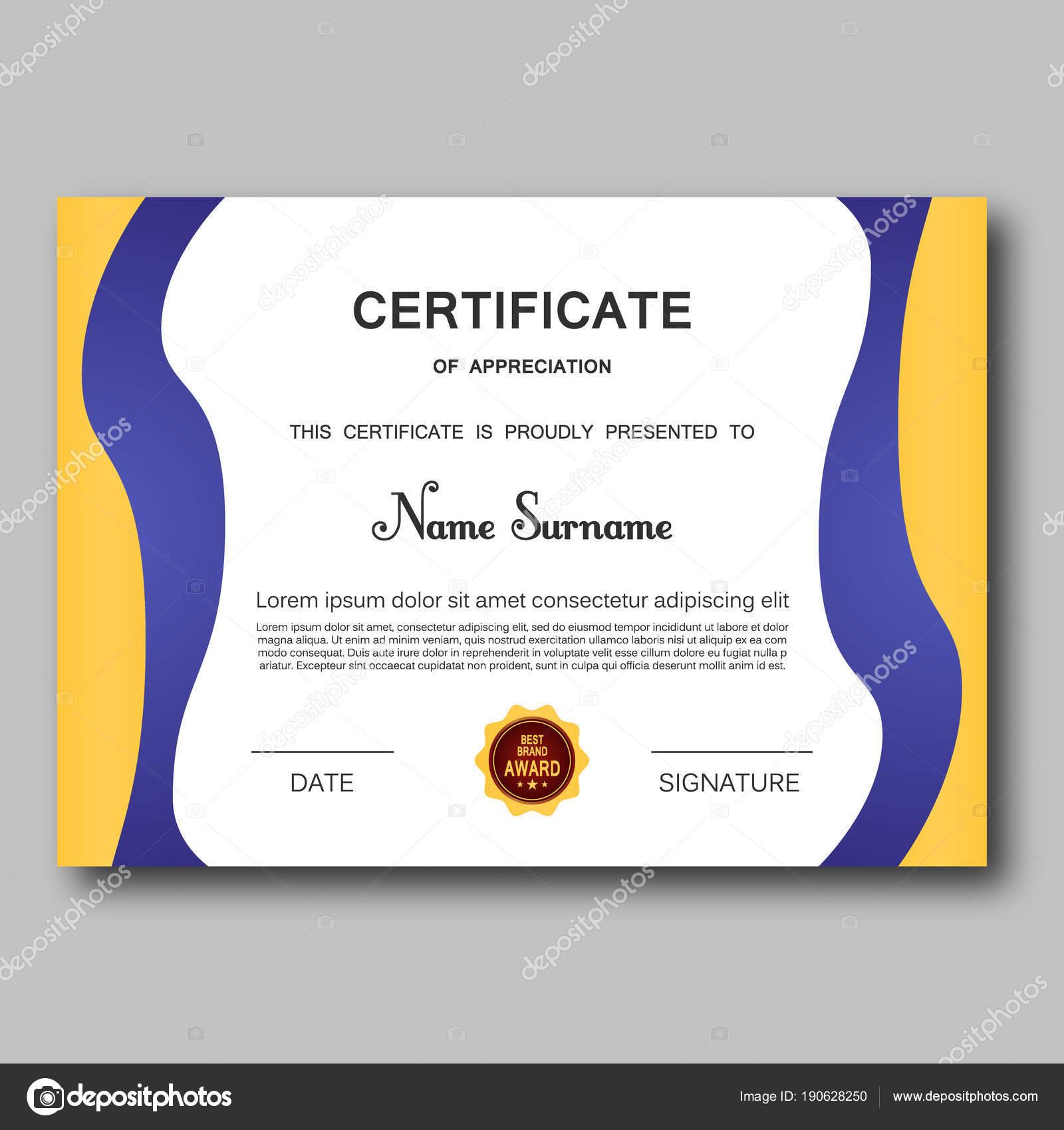 Certificado de apreciación plantilla vector diseño geométrico ...