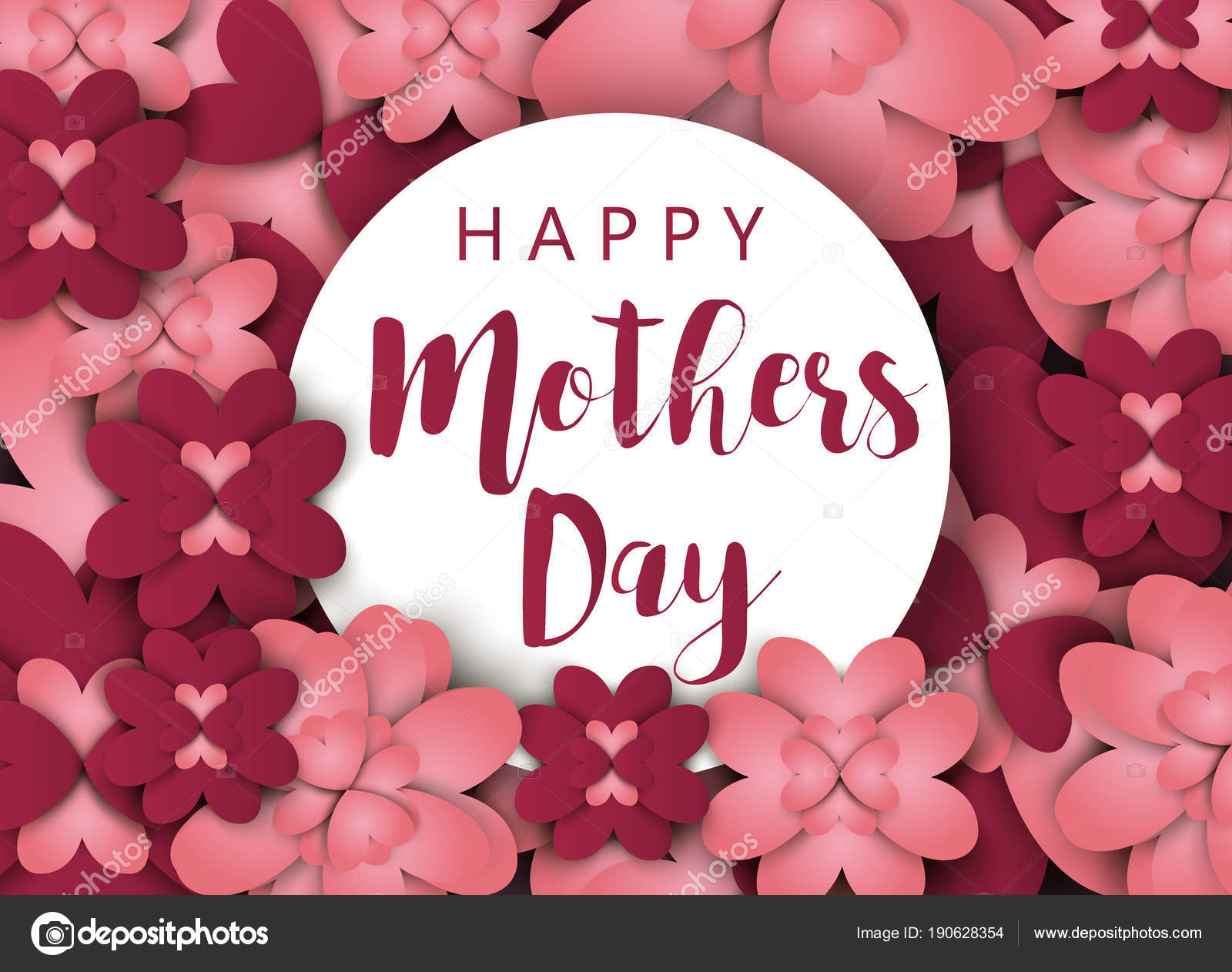 Mothers day card happy mom greeting background vector flower mothers day card happy mom greeting background vector flower invitation mommy holiday spring flora illustration m4hsunfo