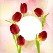 friss tulipánok díszítik a szabad területen használható háttérként, vagy egy meghívás kártya szabad hely a szöveg