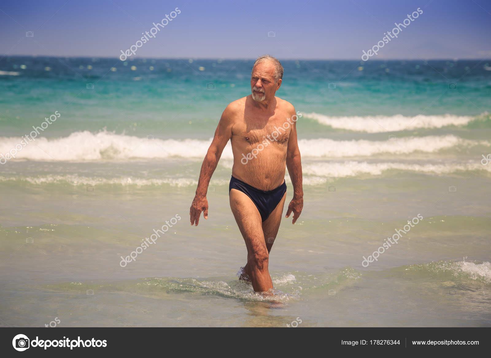 In bikini man old Women's Opinion