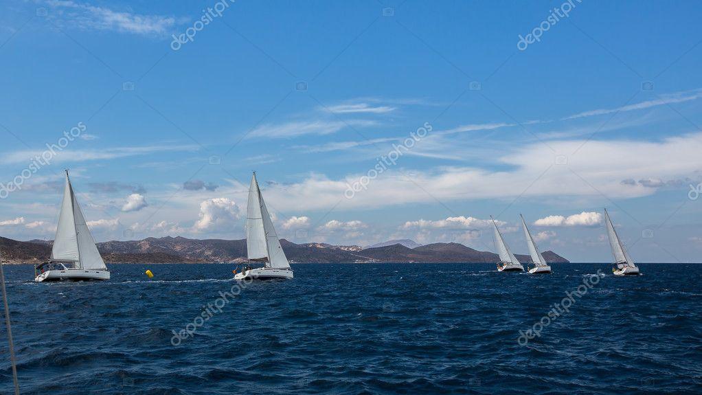 yachts at Sailing regatta