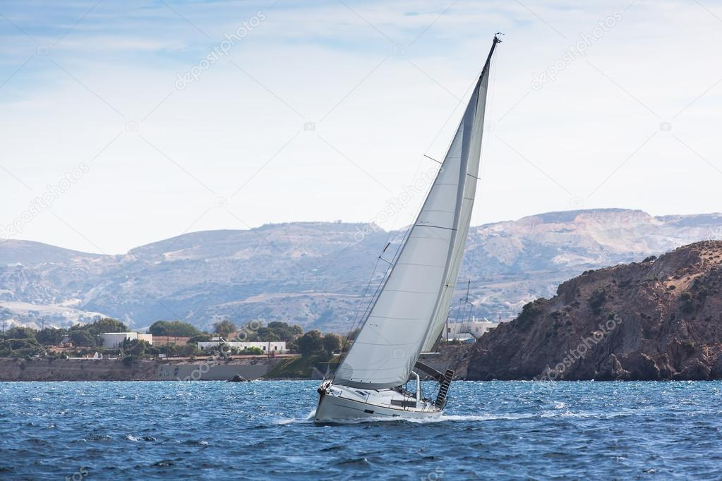 Sailing ship in regatta