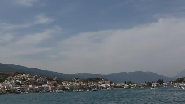 Passage of sailing vessel along the coast