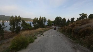 Riding on the roads of Poros island