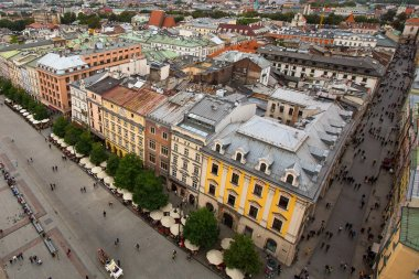 Top view of Old Town Krakow