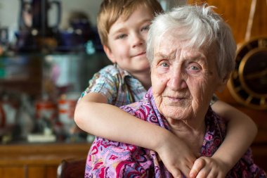 grandmother with small boy