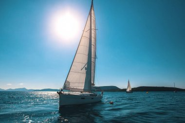 Sail yachts in Sea