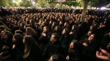 Traditional festivity of students in Portugal