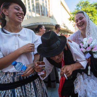 Participants of the Porto folklore festival