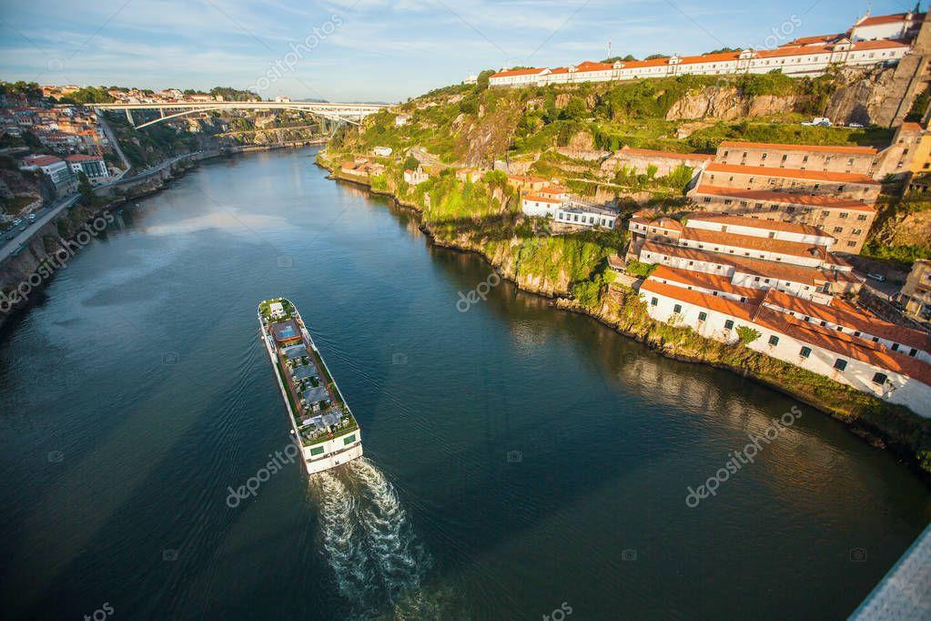 Douro river view from Dom Luis I bridge