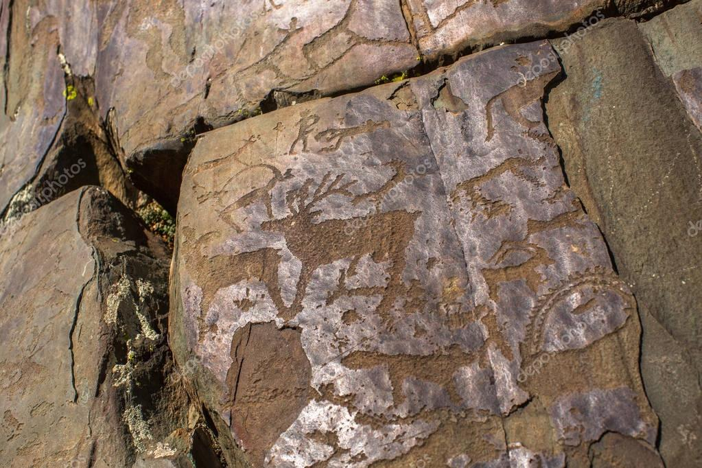 Ancient rock paintings
