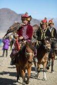 Kazah szirti sas vadászok