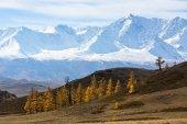 Photo View of mountain North-Chuya ridge of Altai Republic, Russia.