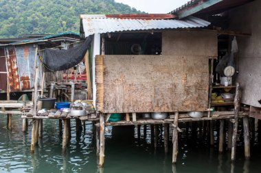 Houses on stilts in the fishing village on Ko Chang island, Thailand