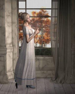 Regency Woman Standing by a Window