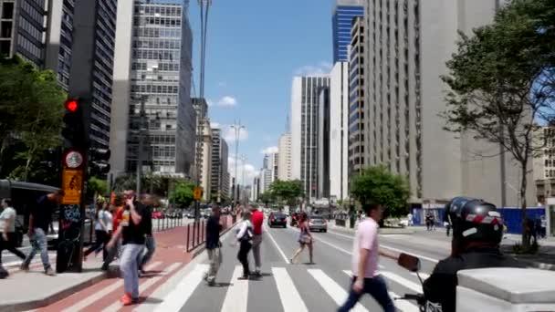 people on Paulista Avenue