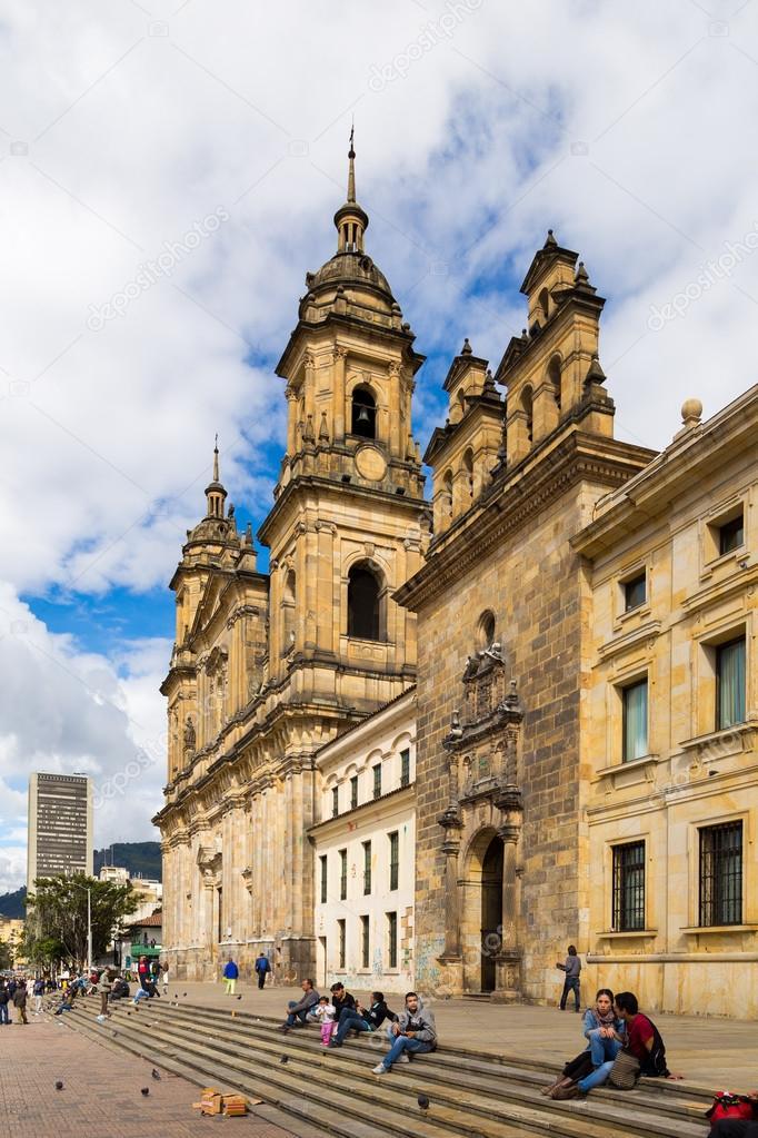 ボリバル広場と、ボゴタの大聖堂...
